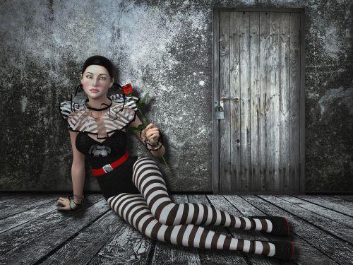 woman beauty melancholic