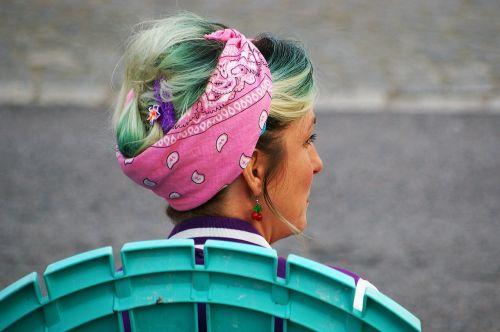 woman scarf profile