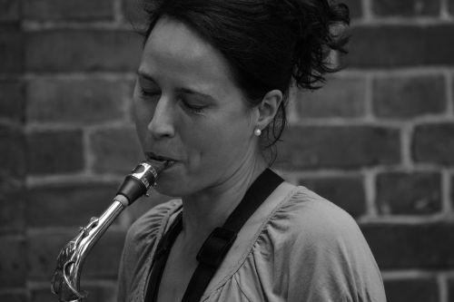 woman saxophone music