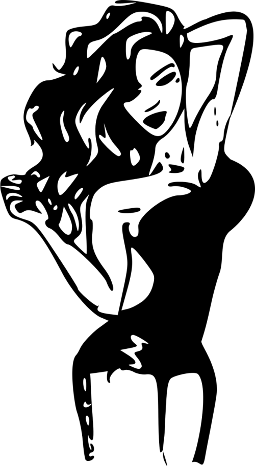 woman silhouette contour