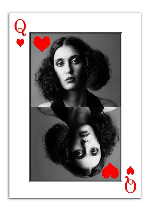 woman face playing card