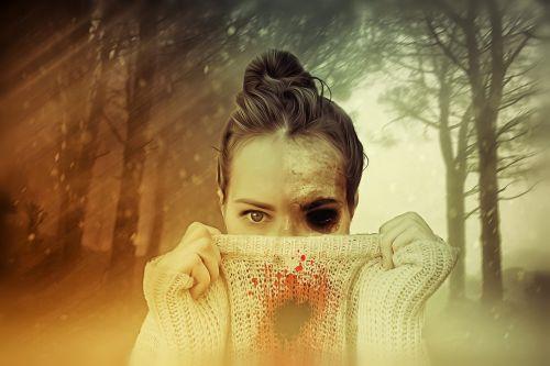 woman female zombie