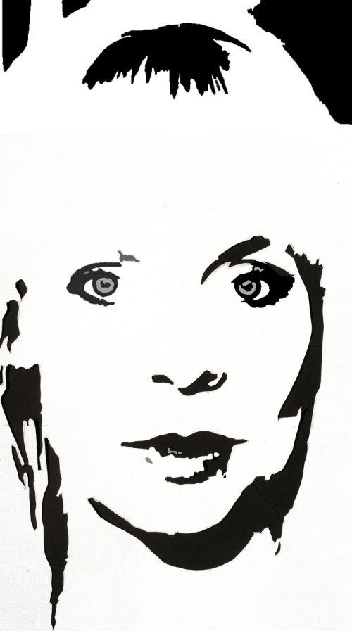 woman portrait monochrome