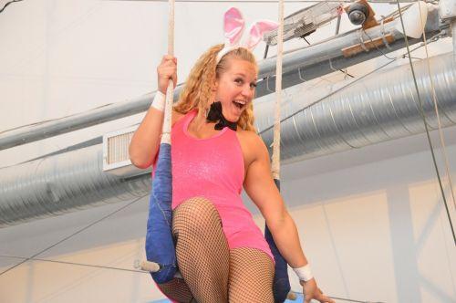 woman bunny pink