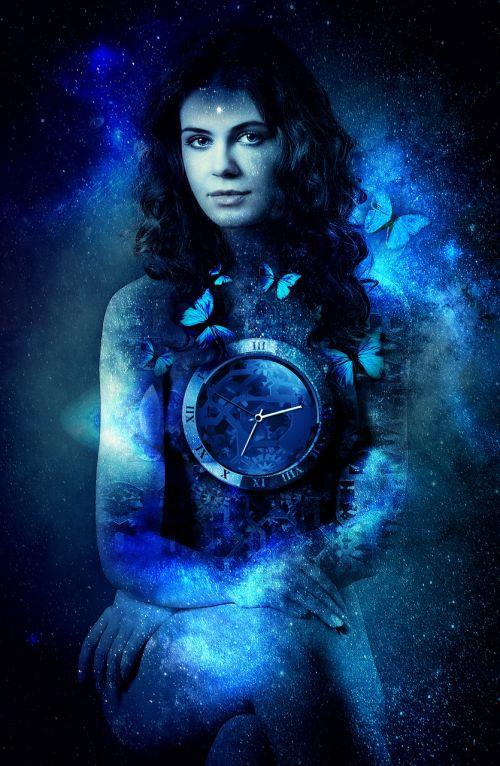 woman time universe