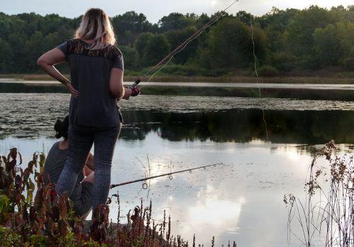woman fishing fisherwoman