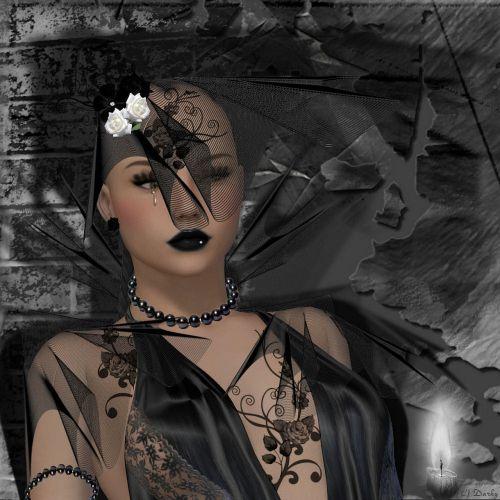 woman widow black