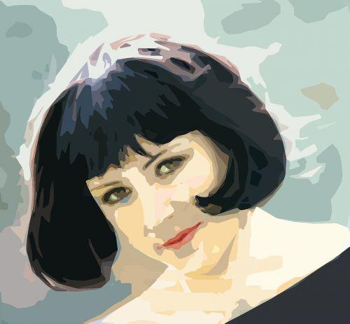 woman portrait view