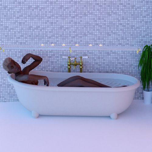 woman tub swim
