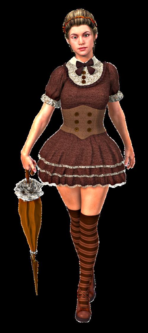 woman vintage steampunk