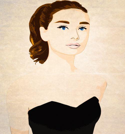 woman vintage movie star