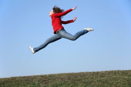 moteris,šokinėti,laisvė