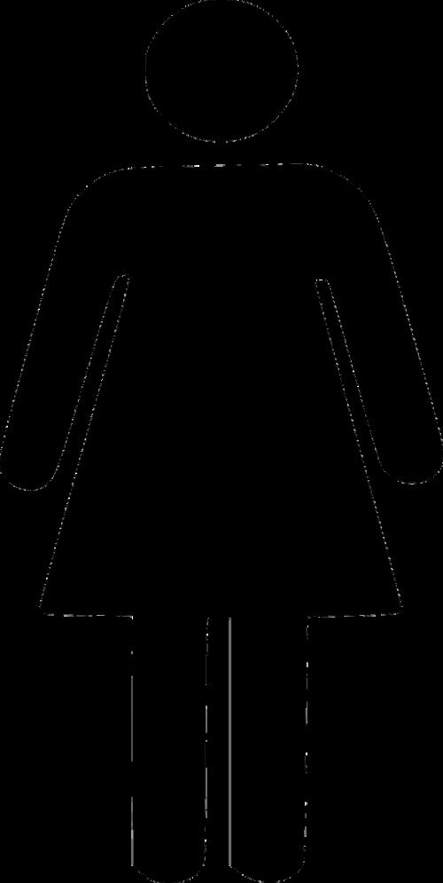 woman silhouette black