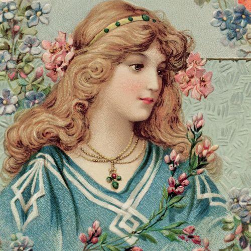 woman victorian girl