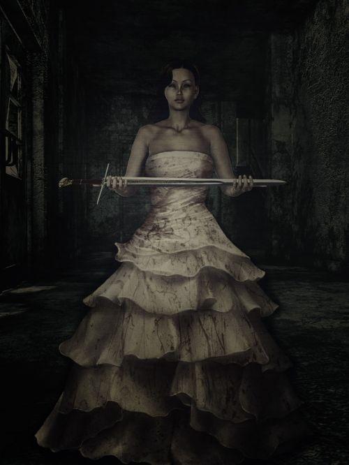 woman dress dark-type