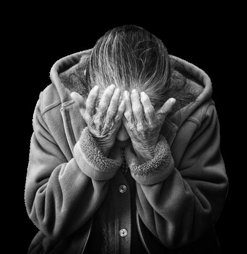 woman despair fear