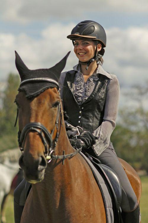 woman horsewoman sporty
