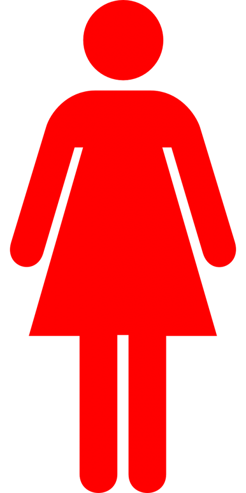 woman pictogram red