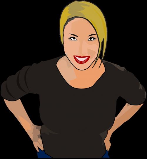 woman tan grinning