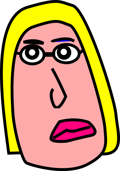 woman blonde sad