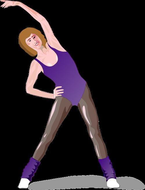 woman stretching female