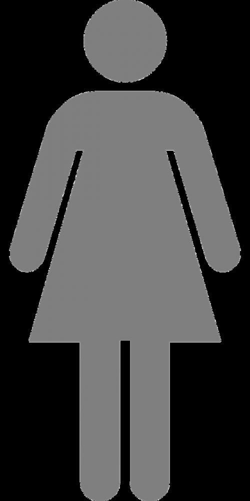 woman pictogram toilette