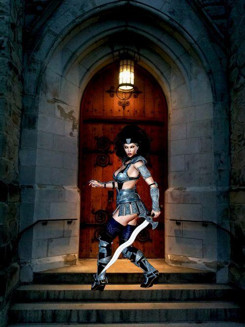 woman adult warrior