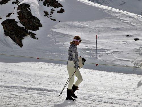 woman  zermatt  snow
