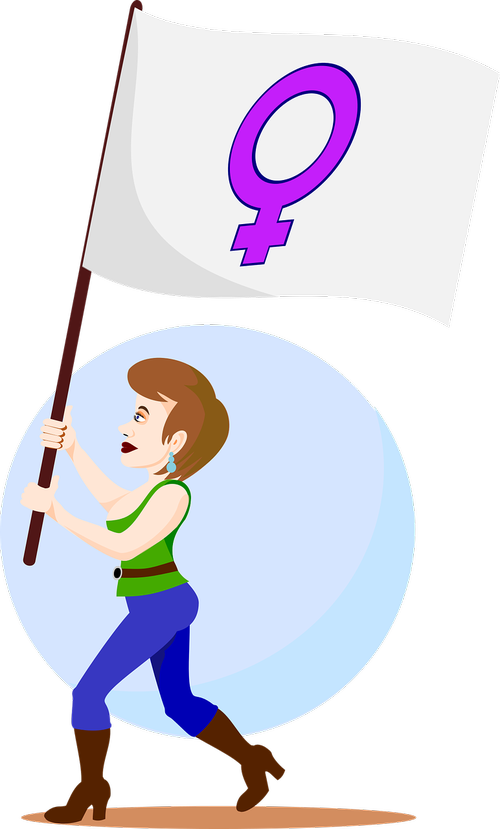 woman  protester  poster