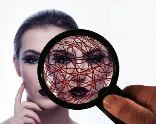 woman face head
