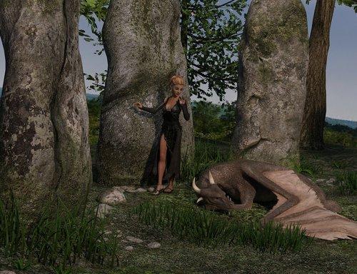 woman  dragon  fantasy