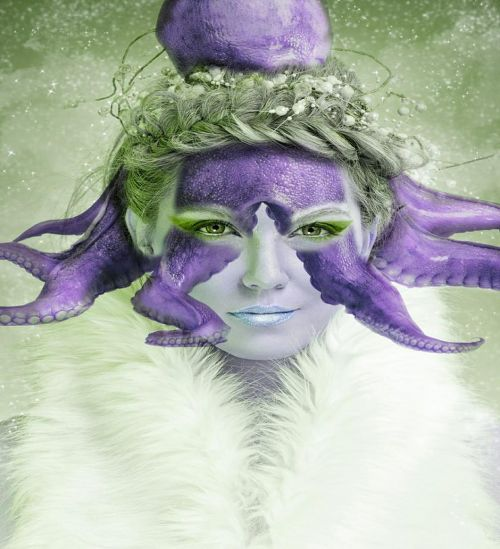 woman mythical creatures nature