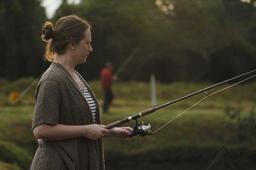 woman  fishing  women
