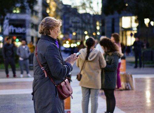 woman  texting  women day