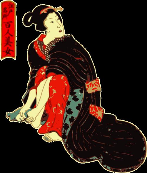 woman feet kimono