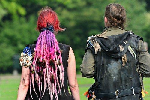 woman  pink hair  costume
