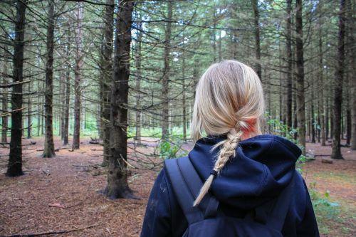 woman girl hiker