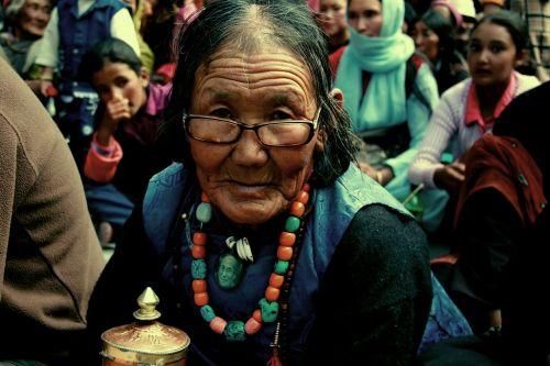 woman old ladakh
