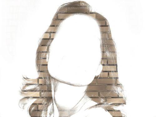 woman face masonry