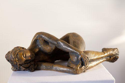 moteris,gulintis,skulptūra,Indija