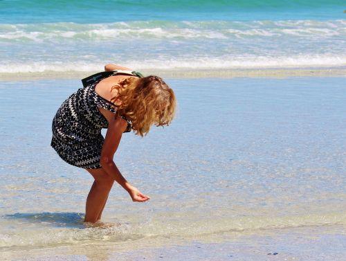 woman beach sea