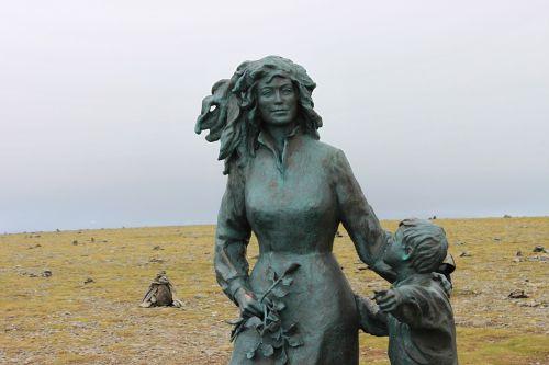 woman child north cape
