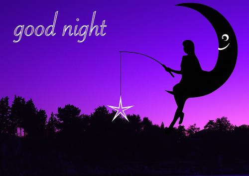 woman moon night