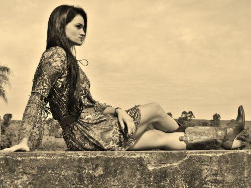 woman model sitting