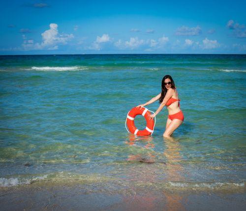 woman south beach florida