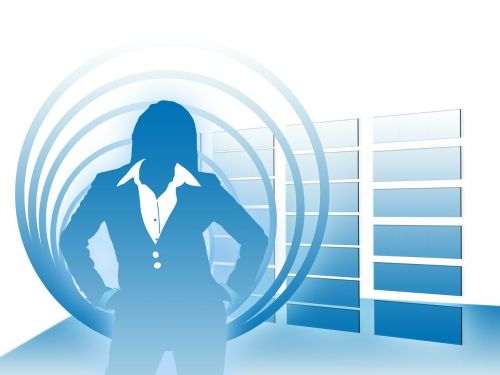 woman silhouette businesswoman