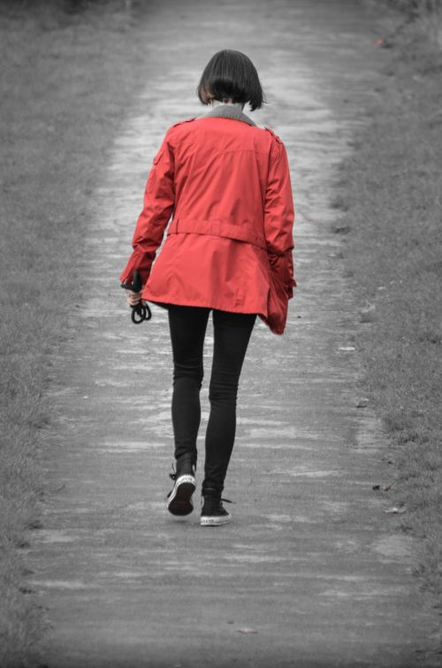 Woman And Red Jacket