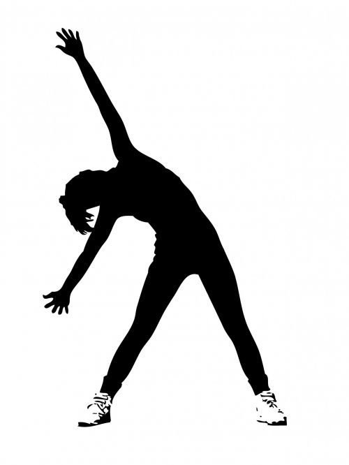 Woman Exercising Clipart