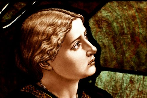 Woman's Face Stained Glass