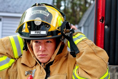 woman fire fighter fire fighter fire brigade